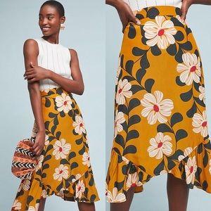Anthropologie Eva Franco Ikebana Floral Skirt